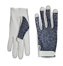 Luxury Cabretta Leather Sun Golf Glove - Navy Cheetah