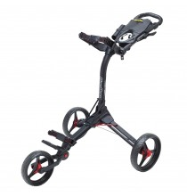 Compact-3 trolley - Matte Black/Red
